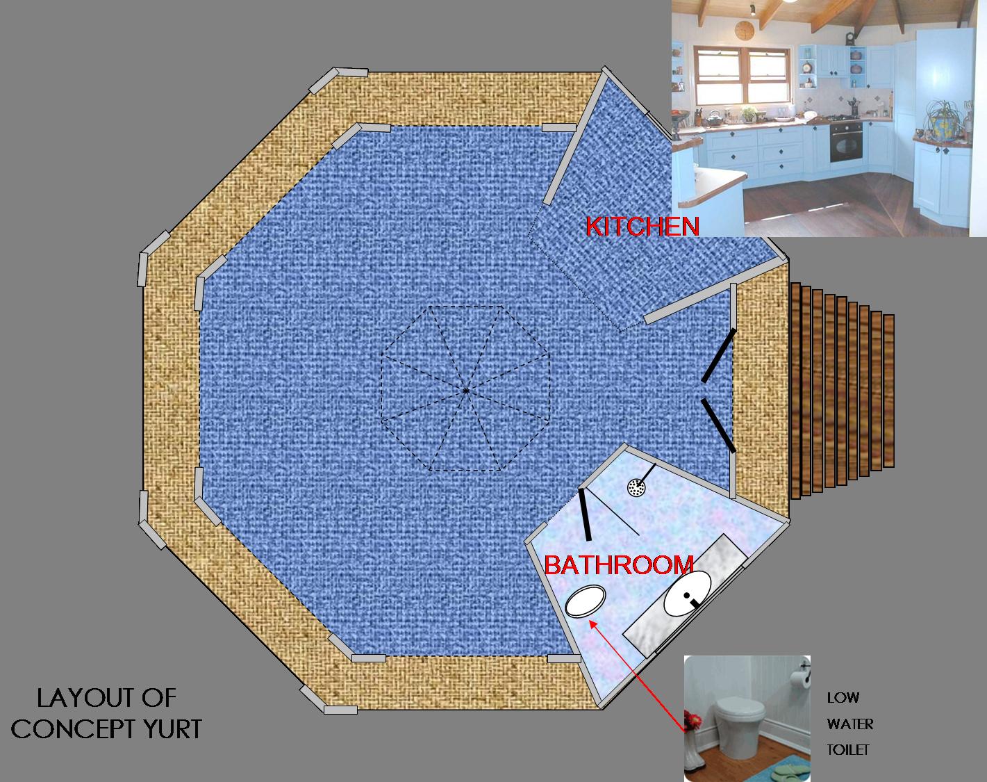 100 Yurt Interior Floor Plans 1 964 Square Feet Three
